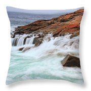 Seas On Schoodic Point Throw Pillow