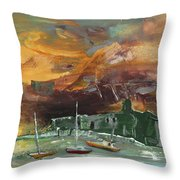 Seascape Impression In Spain 02 Throw Pillow