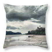 Seascape Panorama Throw Pillow