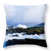 Seascape, West Cork, Ireland Throw Pillow