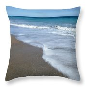 Seascape Wrightsville Beach Nc  Throw Pillow by Joan Meyland