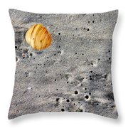 Seashell In The Sand Throw Pillow