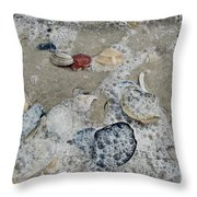 Seashells In The Surf Throw Pillow