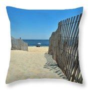 seashore 100 Cape Henlopen Beach walkway Throw Pillow