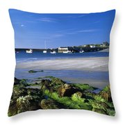 Seashore, Portnablagh, County Donegal Throw Pillow
