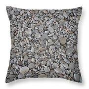 Seashore Rocks Throw Pillow
