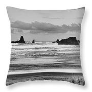 Seaside By The Ocean Throw Pillow