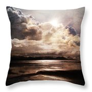 Seaside Cloudscape Throw Pillow