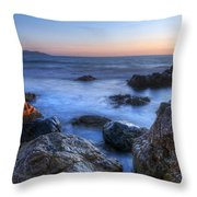 Seaside Rocks Throw Pillow