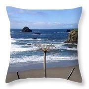 Seaside Solitude Throw Pillow