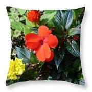 Seasonal Bouquet Throw Pillow