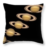 Seasons On Saturn Throw Pillow