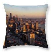 Seattle Blue Hour Throw Pillow