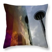 Seattle Emp Building 12 Throw Pillow