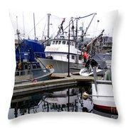 Seattle Fishermans Terminal Throw Pillow