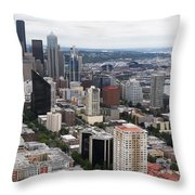 Seattle From The Needle Throw Pillow