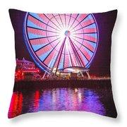 Seattle Great Wheel 2 Throw Pillow
