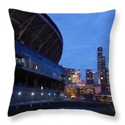 Seattle Sky At Dusk Throw Pillow