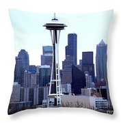Seattle Skyline Throw Pillow