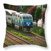 Seattle Sounder Train Throw Pillow