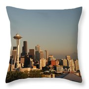 Seattle Sunset Throw Pillow