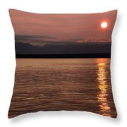 Seattle Sunset Throw Pillow