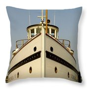 Seattlle's Own Virginia V. The Last Of The Mosquito Fleet Throw Pillow by Christine Burdine