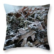 Seaweed And Oak Leaves Throw Pillow