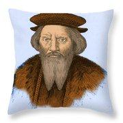 Sebastian Cabot, Italian Explorer Throw Pillow