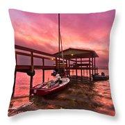 Sebring Sailing Throw Pillow