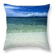 Secluded White Sands Beach Throw Pillow
