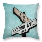 second Avenue 1400 Throw Pillow by Priska Wettstein