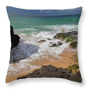 Secret Beach Kauai Throw Pillow