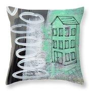 Secret Cottage Throw Pillow