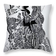 Secret Kiss Throw Pillow