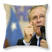 Secretary Of Defense Donald H. Rumsfeld Throw Pillow