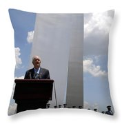 Secretary Of The Air Force Salutes Throw Pillow by Stocktrek Images