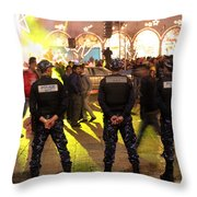 Security And Lights Throw Pillow