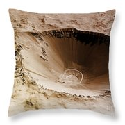 Sedan Crater, Nevada Test Site Throw Pillow by Omikron