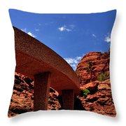 Sedona Man Vs Rock Contrast Throw Pillow