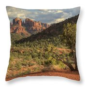 Sedona Red Rock Viewpoint Throw Pillow