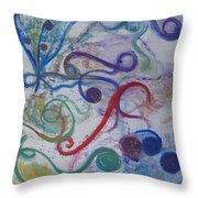 Seedpods In A Breeze Throw Pillow