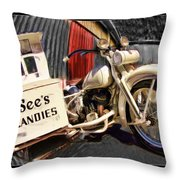 See's Motocycle Throw Pillow