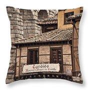 Segovia Spain Throw Pillow