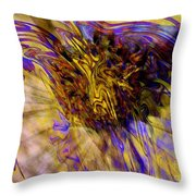 Seize The Day - Abstract Art Throw Pillow