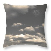 Selenium Clouds Throw Pillow