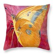 Self Esteem Butterfly Throw Pillow