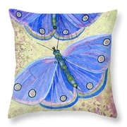 Self Expression Butterfly Throw Pillow