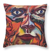 Self Portrait - Map Of Life Throw Pillow