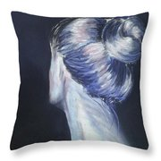 Self Portrait Of Artist In Pastel Throw Pillow